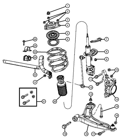 2007 dodge nitro front axle diagram
