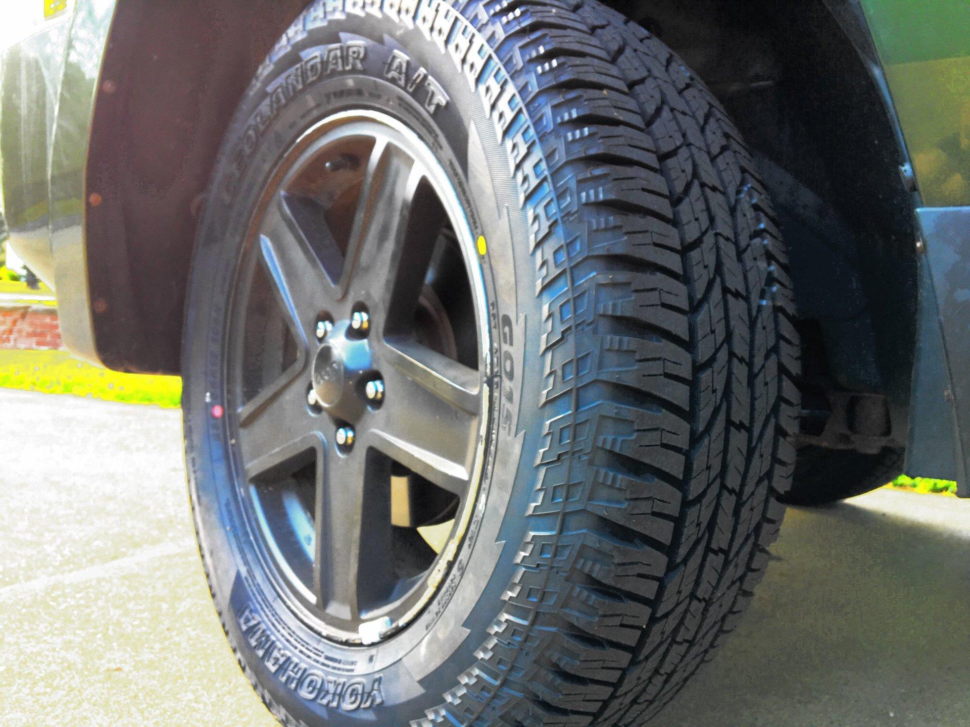 New Yokohama Geolandar AT G015 Tires | Jeep Patriot Forums